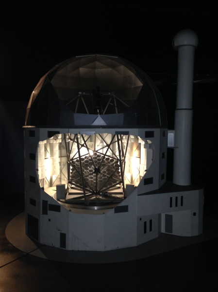 Model of the Large Telescope as seen in S.A.A.O tour. Photo: Nikita Richards