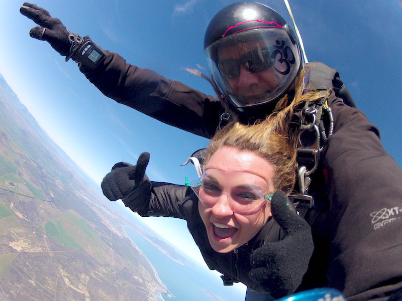 bucket list skydiving