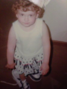 Me at 3 with big shoes